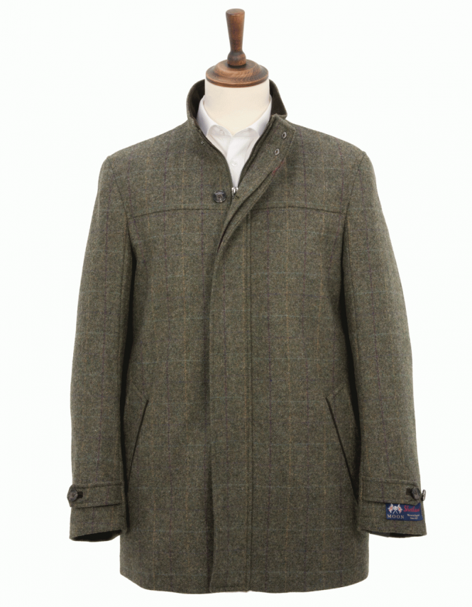 Douglas Harlow Pure Wool Overcoat - Green
