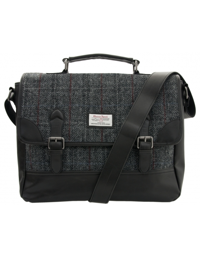 The British Bag Company Harris Tweed Satchel - Grey