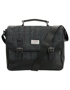 Harris Tweed Satchel - Grey