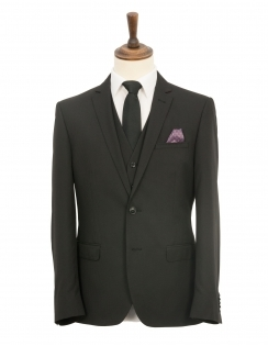 Harry Brown 3 Piece Slim Fit Suit - Black