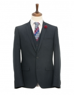 Harry Brown 3 Piece Slim Fit Suit - Blue