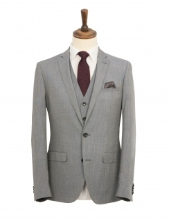 Harry Brown 3 Piece Slim Fit Suit - Grey