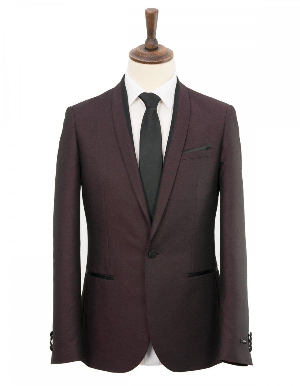 Harry Brown Slim Fit Prom Suit - Wine | Fields Menswear