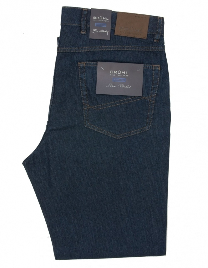 Bruhl Harry Stretch Waistband Jeans - Dark Blue