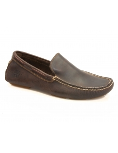 Heritage Driver Venetian Leather Slip On Shoe - Potting Soil Brown