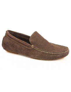 Heritage Driver Venetian Suede Slip On Shoe - Potting Soil Brown