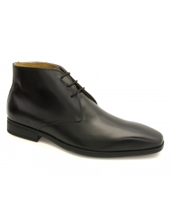 Hern Leather Desert Boot - Black