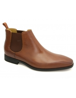 Hogan Cognac Waxed Chelsea Boot