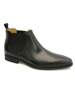 Hogan Waxed Chelsea Boot - Black