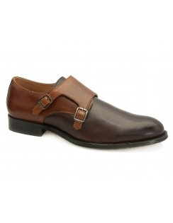 Ian Monk Strap Shoe - Brown & Tan