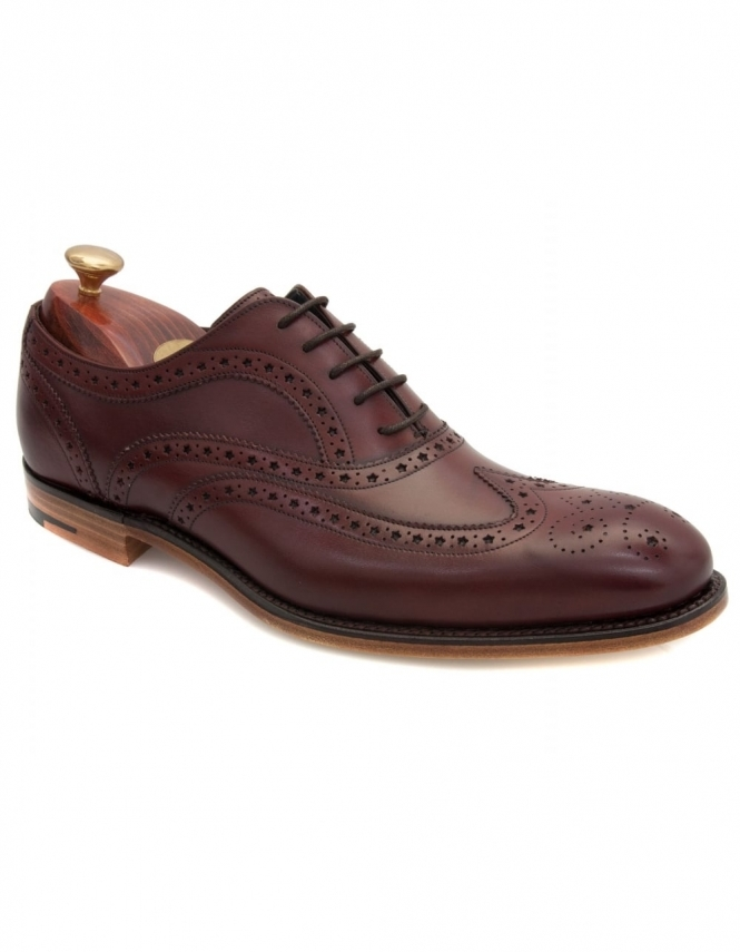 Barker Jensen Leather Wingcap Derby - Cherry