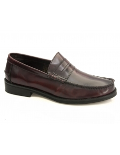 Kade Leather Loafer - Bordo