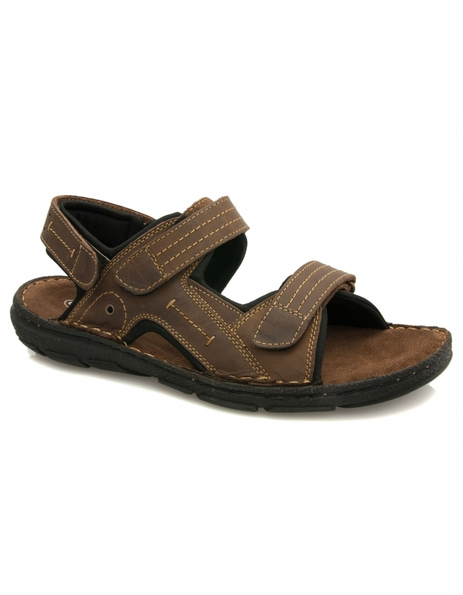 Lotus Kennedy Brown Leather Velcro Sandals