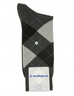 King Argyle Sock - Grey