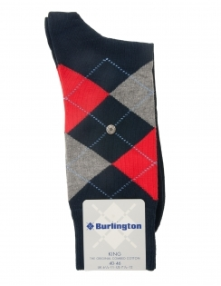 King Argyle Sock - Marine