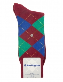 King Argyle Sock - Wine