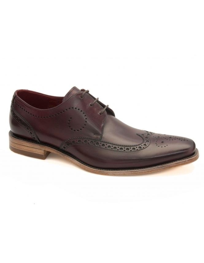 Loake Kruger Calf Wing Cap Derby Brogue - Burgundy