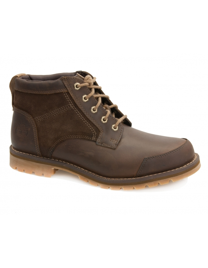 Timberland Larchmont Gaucho Leather & Suede Saddleback Chukka Boot - Dark Brown