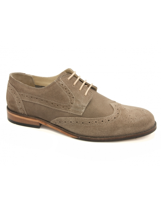 Lotus Larkin Suede Derby Lace Brogues - Sand