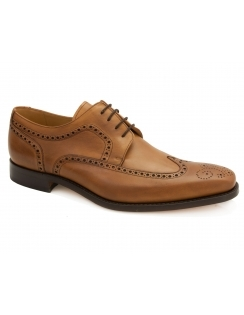 Larry Leather Brogue Derby - Cedar