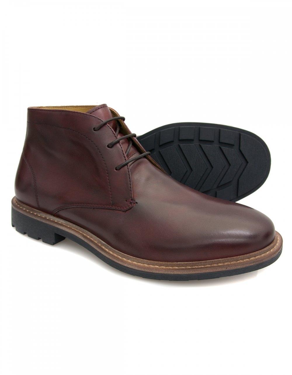 steptronic leeds leather chukka boot bordo