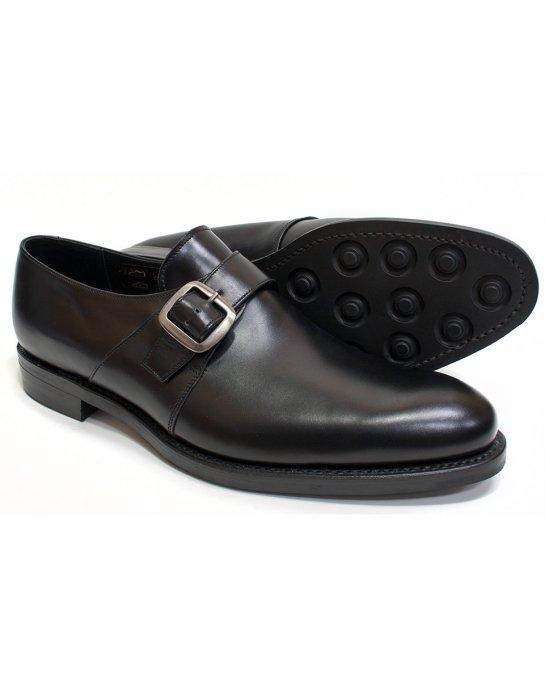 loake fleet black calf monk shoe shoes from fields