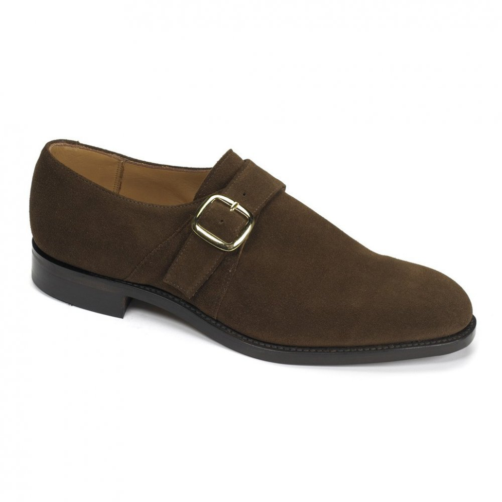 Lighter shades, rubber soles, hits of vibrant colour and suede construction are all elements that have helped soften the monk strap shoe's dressy image and broaden its appeal.