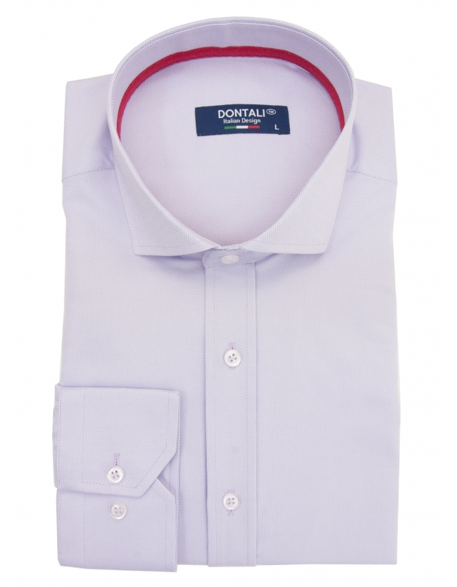 Dontali Long Sleeve Slim Fit Oxford Shirt - Lilac