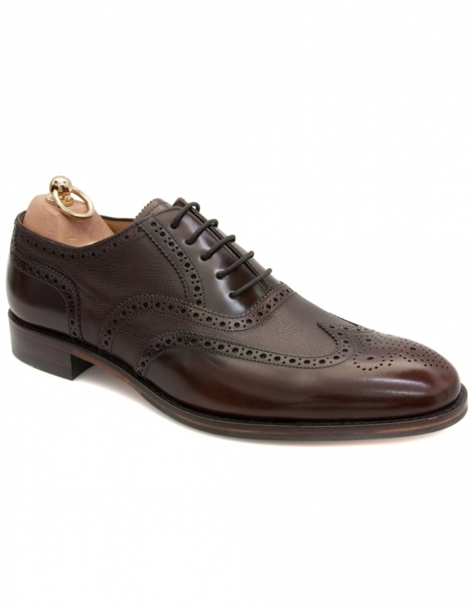 Loake Lowick Oxford Full Brogue - Dark Brown