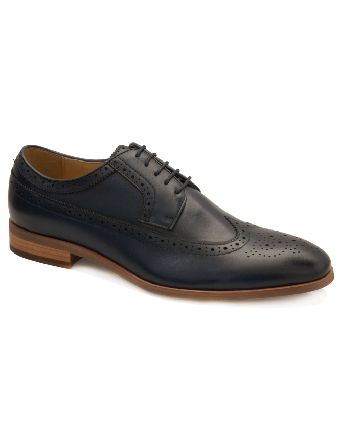 John White Lyme Leather Brogue - Navy