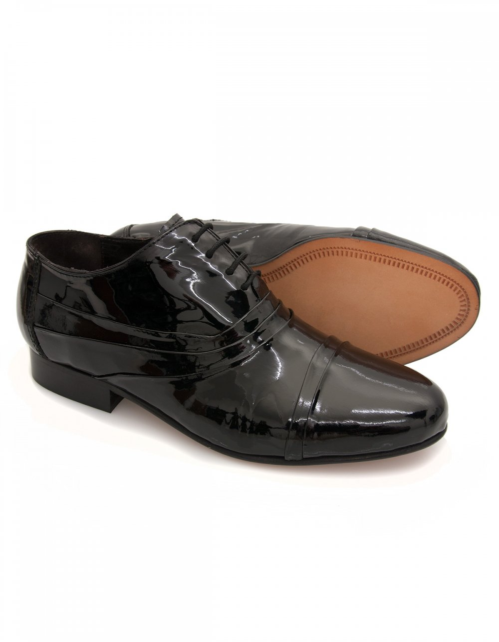 maybury patent leather dress shoes lace up