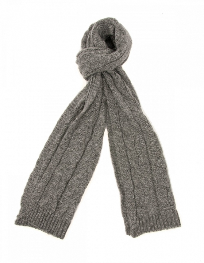 Michaelis Cable Knit Scarf in Grey