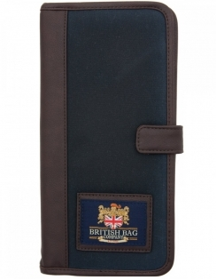Millerain Waxed Cotton Travel Wallet - Navy