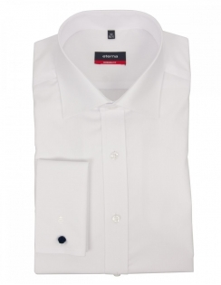 Modern Fit Double Cuff Cotton Poplin 8500 - White
