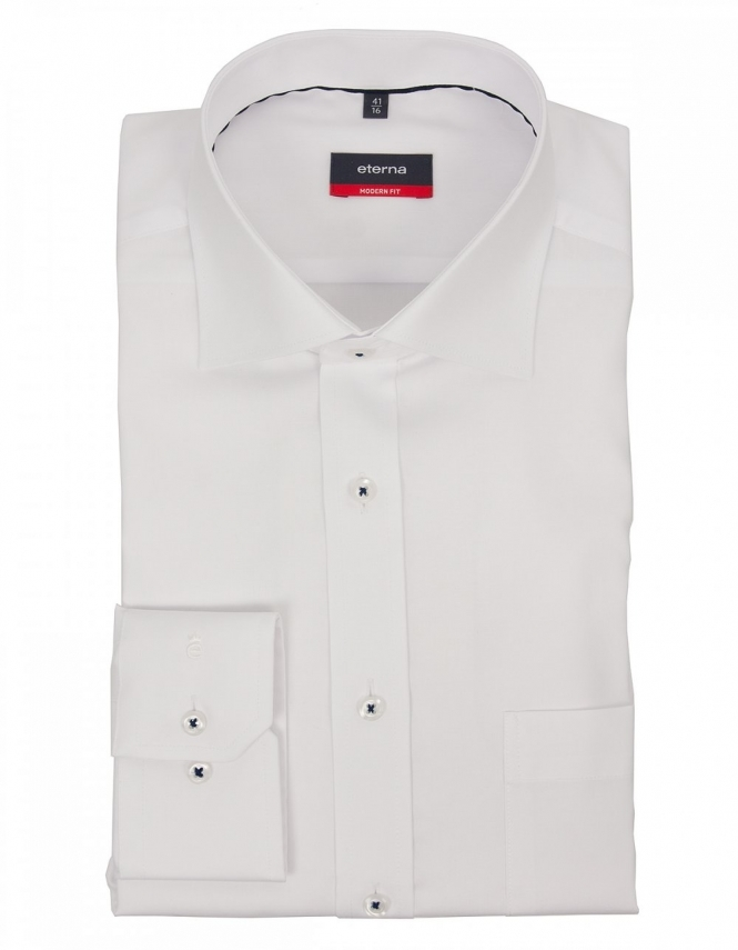 Eterna Modern Fit Fine Cotton Oxford 8100 - White