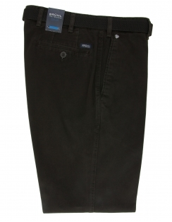 Montana Cotton Chino With Stretch Waistband - Anthracite