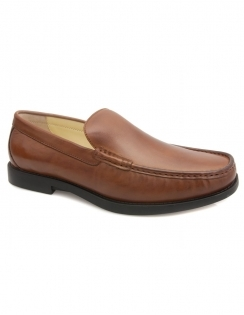Montana Slip On Moccasin - Cognac
