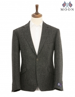 Murcia Shetland Wool Jacket - Charcoal
