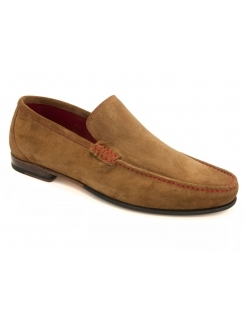 Nicholson Contrast Stitch Suede Loafer - Tan