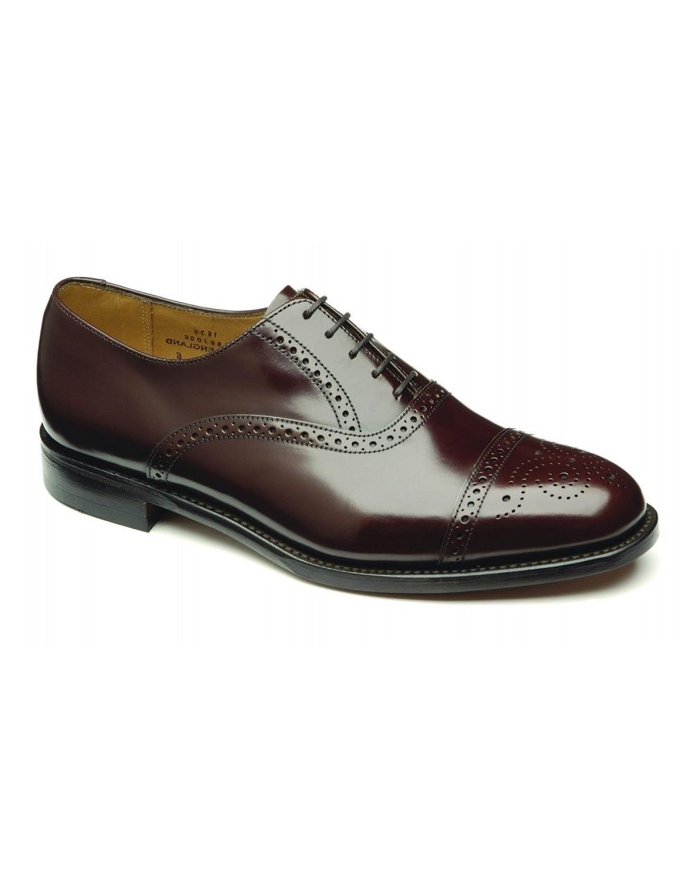 f2144475 Oban - Brown Polished Leather Semi Brogue   Fields Menswear