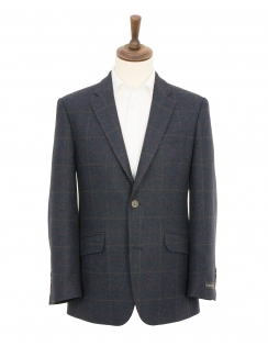 Overcheck Pure Wool Jacket - Navy