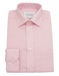 Paradigm Non-Iron Shirt - Pure Cotton - Single Cuff - Soft Pink