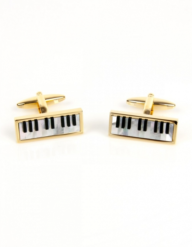 Dalaco Piano Keyboard Cufflinks - Real Onyx & Mother of Pearl 90-1071