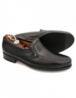 Pisa Black Nappa Blind Seam Moccasin