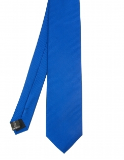 Plain Woven Silk Tie - Royal Blue