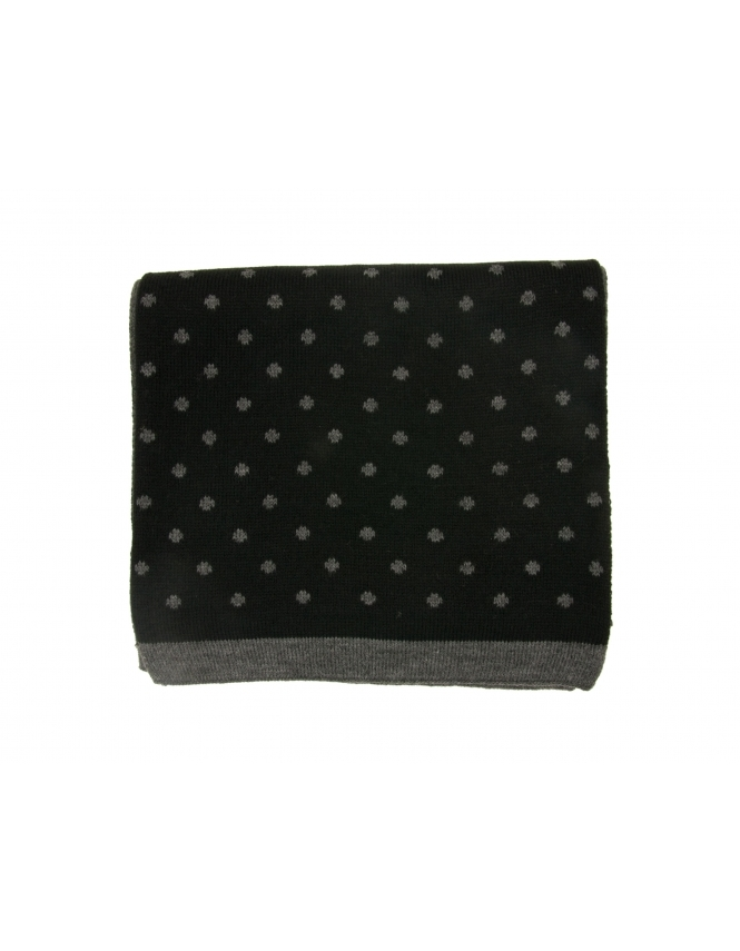 Michaelis Polka Dot Scarf - Black & Grey