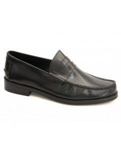 Portobello Rubber Sole Leather Loafer - Black