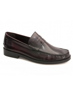 Portobello Rubber Sole Leather Loafer - Burgundy