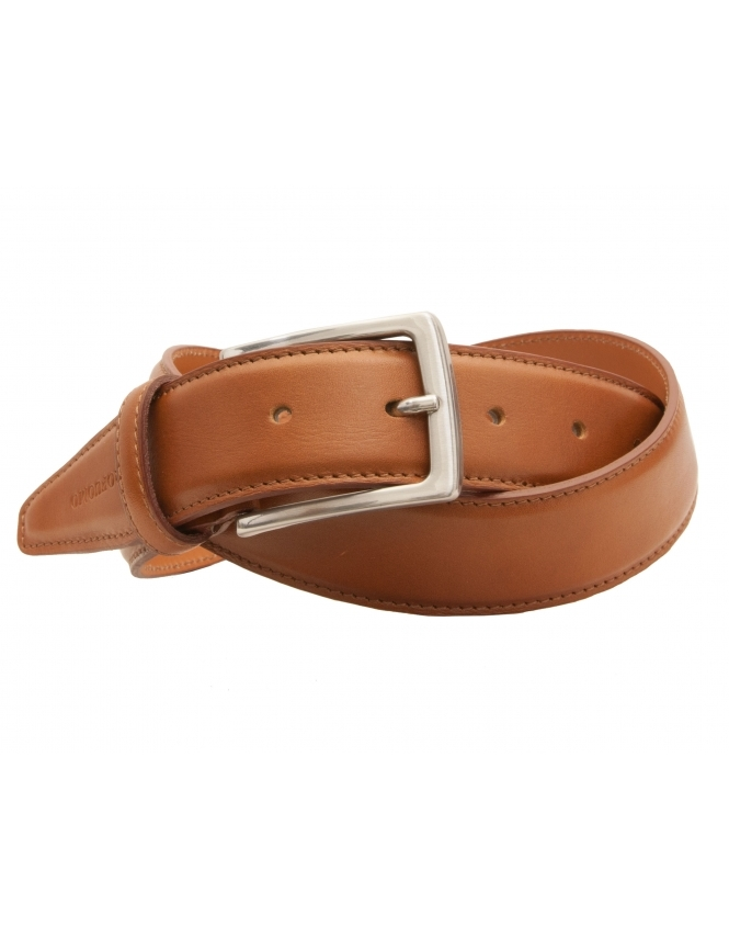 Profuomo Premium Italian Leather Belt - Cognac