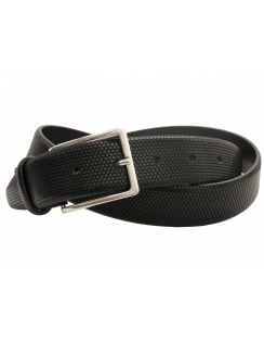 Premium Italian Leather Belt - Textured Finish - Black